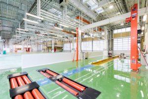 整備工場 車検場 エポキシ樹脂系床材